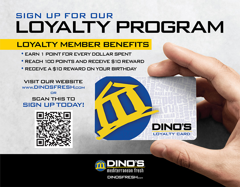 Signup for our Loyalty Program